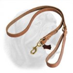 Upgraded Braided Leather Dogue de Bordeaux Leash