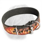 Flamed Dogue de Bordeaux Handcrafted Collar
