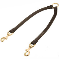 Stunning Round Leather Dog Coupler