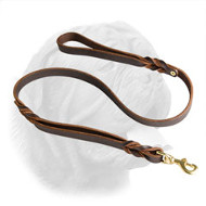 Leather Dogue de Bordeaux Leash With Extra Handle