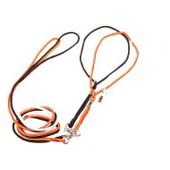 Showy Nylon Dogue de Bordeaux Combo Leash with Swivel