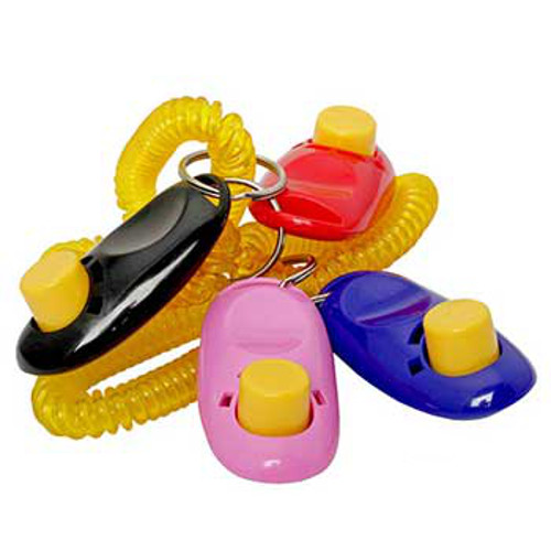 Dog training clickers with plastic coil spring