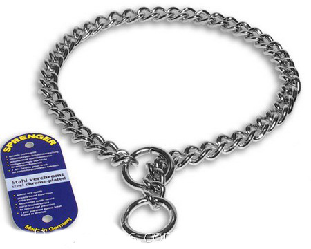 Chrome plated steel chain for dogs