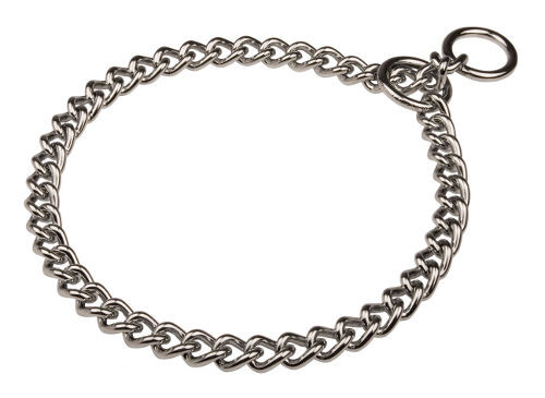 Chrome plated steel choke chain for dogs