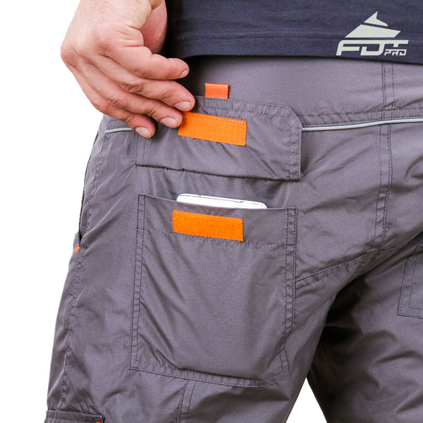 Comfy Design FDT Professional Pants with Handy Back Pockets for Dog Training