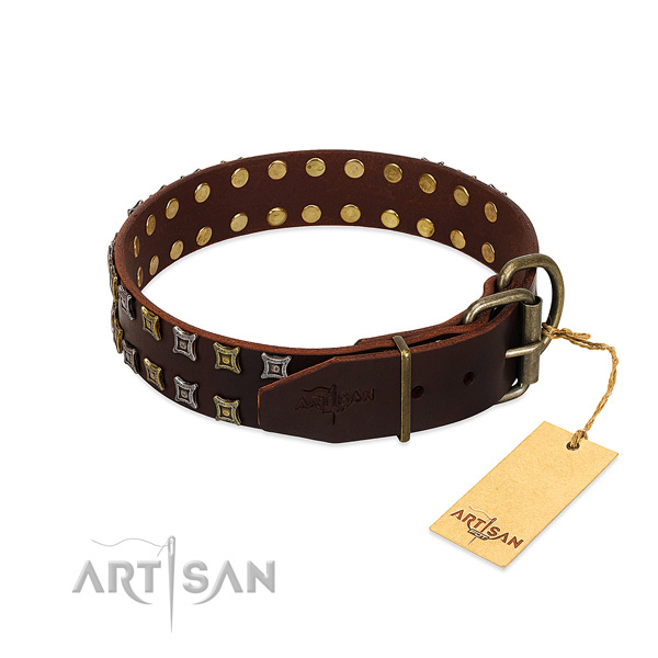 Best quality leather dog collar made for your dog