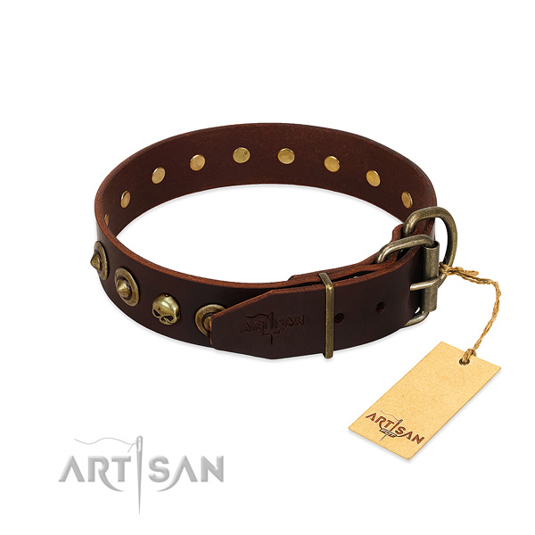 Leather collar with trendy studs for your doggie