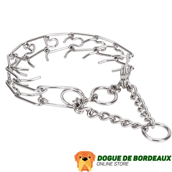 Stainless steel dog pinch collar for large dogs