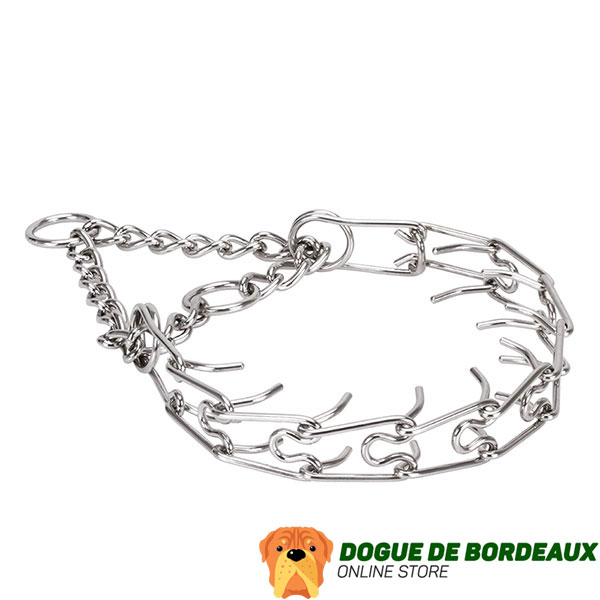 Rust proof stainless steel prong collar for aggressive canines