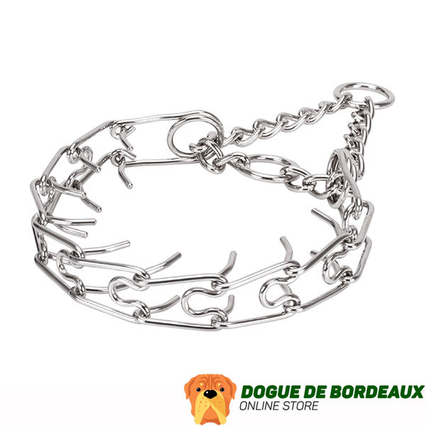 Dog prong collar of reliable stainless steel for large canines
