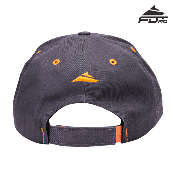 Dog Walking Easy Adjustable Unisex Snapback Cap of Dark Grey Color
