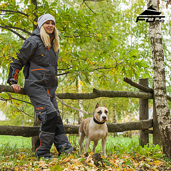 Convenient Side Pockets on Men and Women Design Pants for Active Dog Training