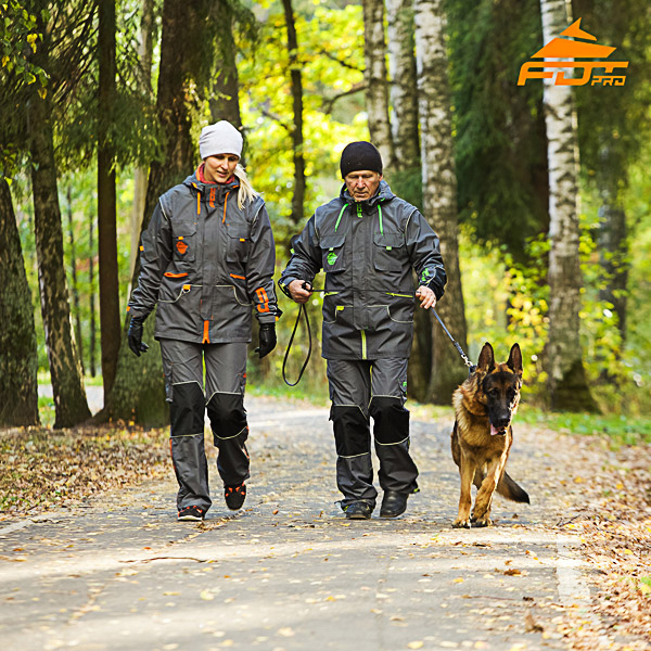 Unisex Top Notch Dog Tracking Suit for Men and Women with Reflective Trim