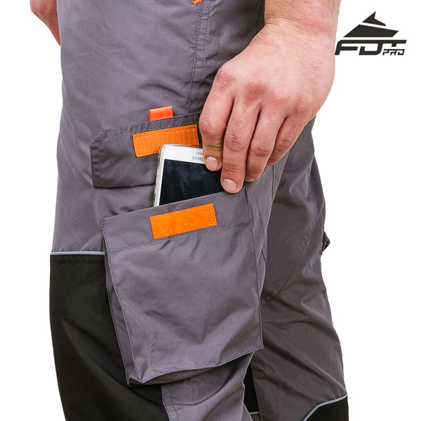 Pro Design Dog Trainer Pants with Reliable Velcro Side Pocket