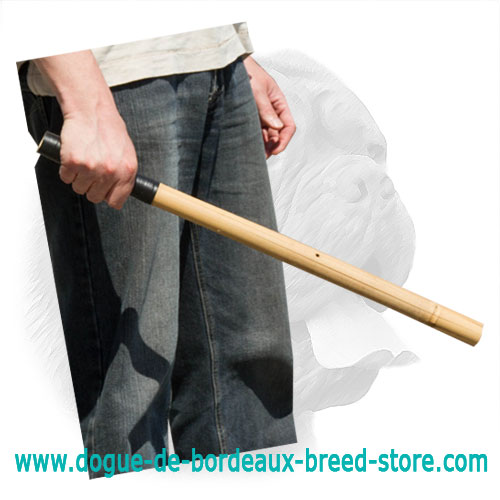 Dogue de Bordeaux Bamboo Stick for Schutzhund Training