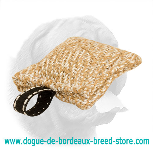 Tiny Jute Bite Pad for Dogue de Bordeaux Puppy Training