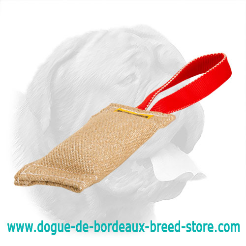 Hypoallergenic Jute Bite Tug for Dogue de Bordeaux Puppy Training