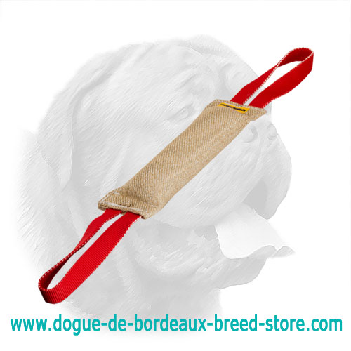 Hypoallergenic Jute Bite Tug for Dogue de Bordeaux Training