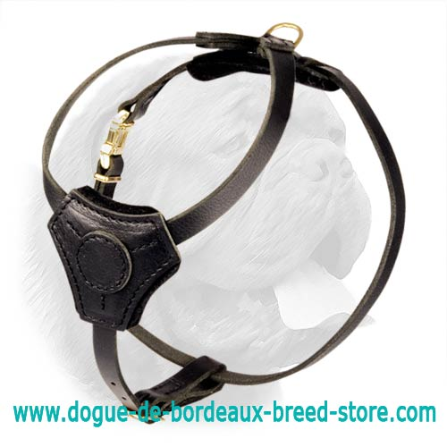 Lightweight Leather Dogue de Bordeaux Harness for Puppies