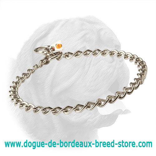 New Original Stainless Steel Choke Collar for Dogue de Bordeaux - 51112 (55) 1/9 inch (3.00 mm)