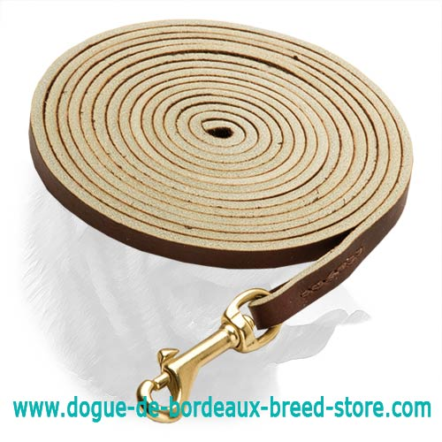 Best Leather Dogue de Bordeaux Leash for Tracking - Click Image to Close