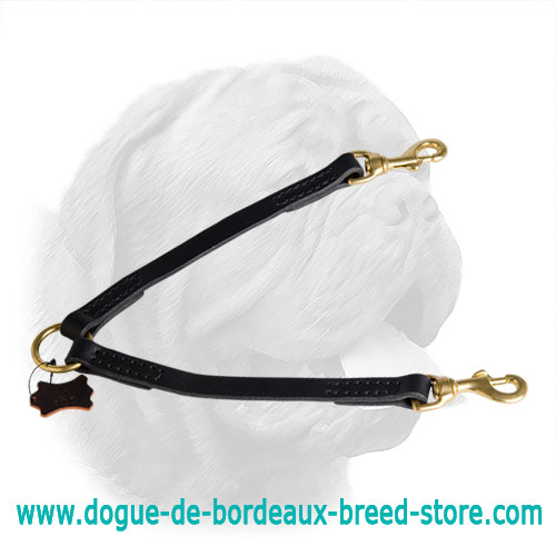 2 Dogs Easy Walking Dogue de Bordeaux Leather Coupler