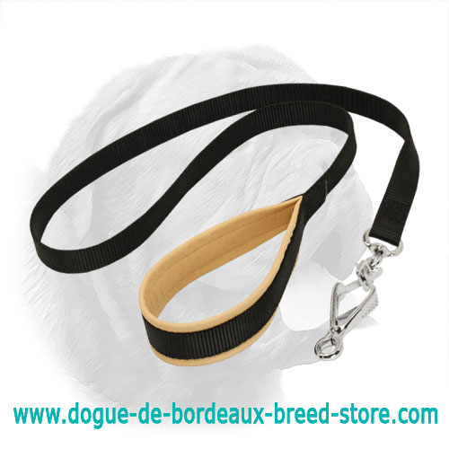 Comfortable Nylon Dogue de Bordeaux Lead with Padded Handle