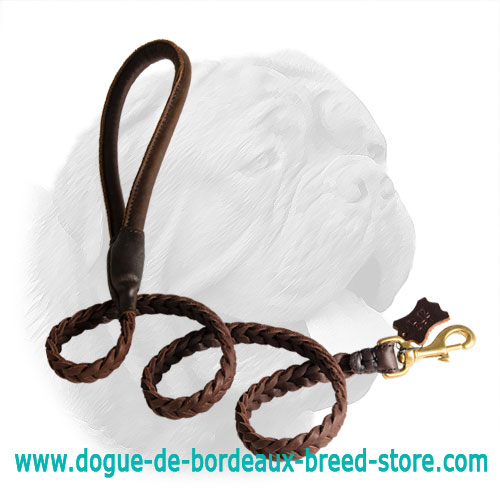 Awesome Braided Dogue de Bordeaux Leash - Click Image to Close