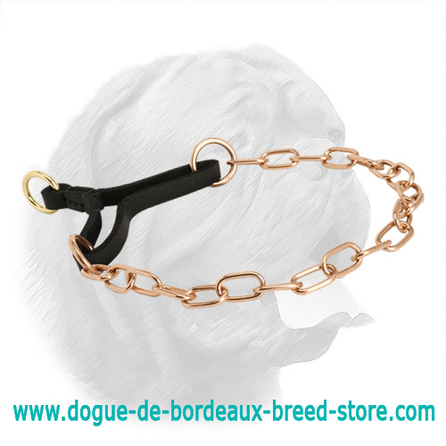 Original Curogan Martingale Dogue de Bordeaux Collar - 1/9 inch (3 mm)