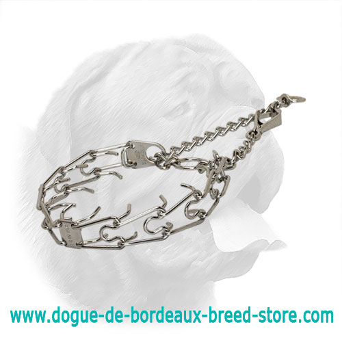 Dogue de Bordeaux Chrome-Plated Steel Pinch Collar - 50116 (02) 1/9 inch (3.00 mm) Prong's Diameter