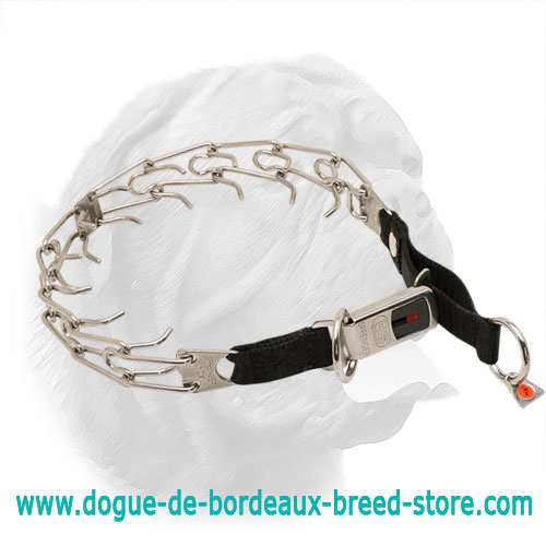 Herm Sprenger Stainless Steel Dogue de Bordeaux Pinch Collar for Behavior Correction - 50026 10 (55) 1/8 inch (3.25 mm)