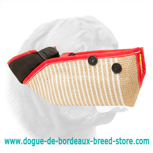 Short Jute Bite Protection Sleeve for Dogue de Bordeaux Training