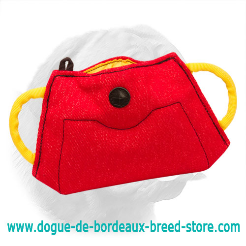 French Linen Bite Builder for Dogue de Bordeaux Puppy Training