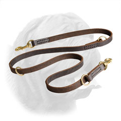 Hand stitched leather leash