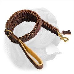 Full grain genuine leather leash