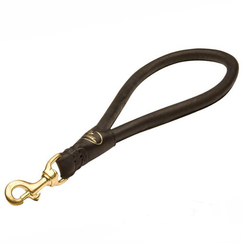 Durable leather Dogue de Bordeaux lead for better control