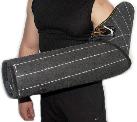 Arm protection bite sleeve
